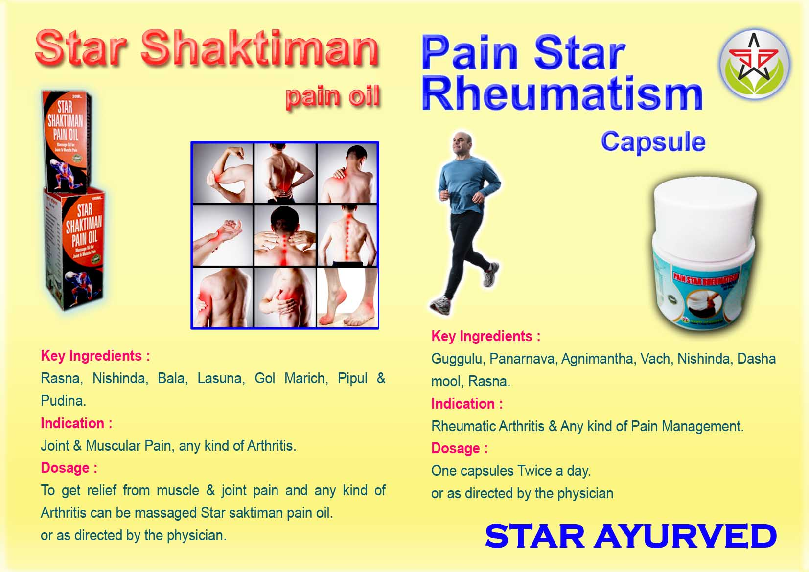 Star Shaktiman & Pain oil